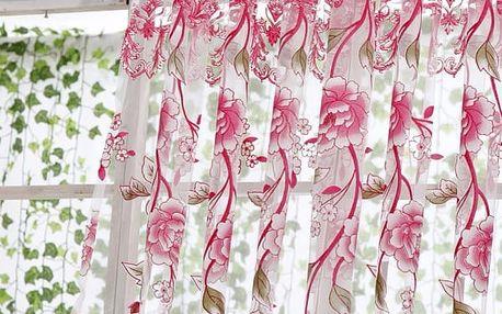 Květinová záclona - 6 barev