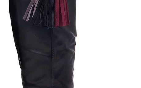Ctogo GOGO Zimní kozačky s třásněmi 6262-1B Velikost: 39 (24,5 cm)