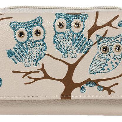 Dámská peněženka Owl 1045 béžová