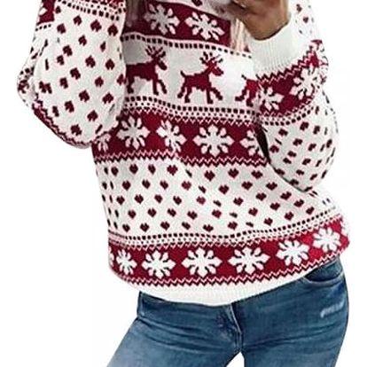 Dámský pletený svetřík se sobi - 2 varianty