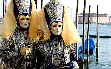 3denní zájezd na legendární karneval do Benátek pro jednoho, rej masek, prohlídka města s průvodcem.