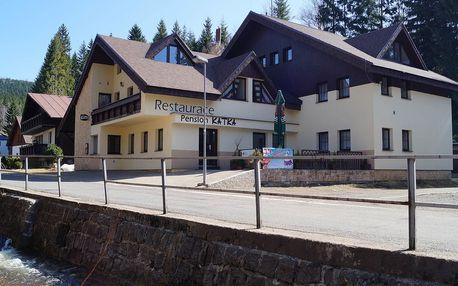 Penzion Katka v Harrachově přímo u ski areálu s polopenzí