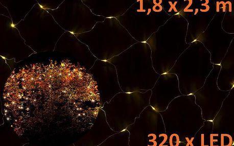 Nexos 852 Vánoční LED světelná síť 1,8 x 2,3 m - teple bílá, 320 diod