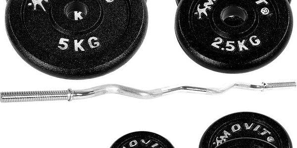 MOVIT Profi 1287 Činkový set 26 kg - činka + závaží2