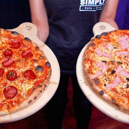 1 nebo 2 křupavé pizzy podle výběru ze 33 druhů