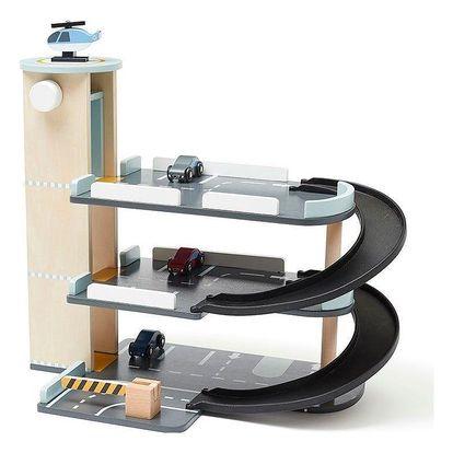 Kids Concept Dětský parkovací dům Aiden, multi barva, dřevo, kov