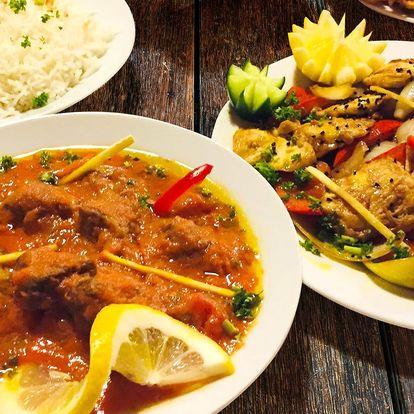 Ráj indických chutí: menu pro dva dle výběru