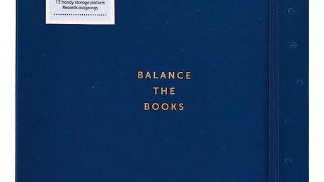Busy B Zápisník na finance Pretty, modrá barva, papír