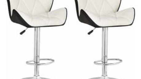 2x Barová židle Hawaj CL-3227 | bílá / černá