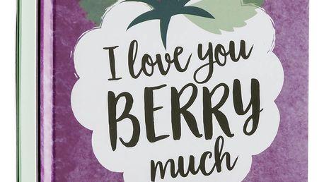 SCOTTISH FINE SOAPS Mýdlo v plechové krabičce Berry, fialová barva, kov