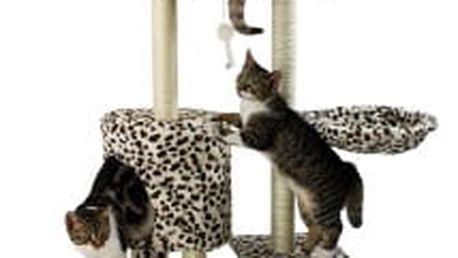 Škrabadlo pro kočky Hawaj 138 cm | leopardí vzor