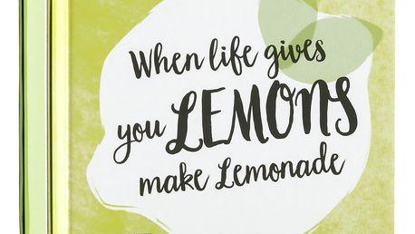 SCOTTISH FINE SOAPS Mýdlo v plechové krabičce Lemons, žlutá barva, kov