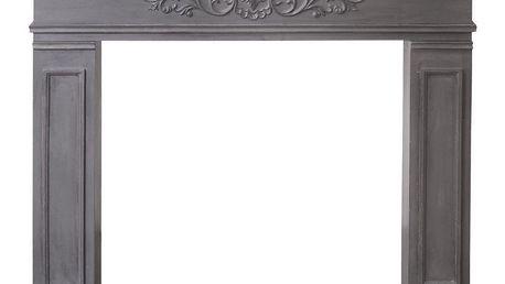Chic Antique Falešný Krb French Mantelpiece 96 cm, šedá barva, dřevo