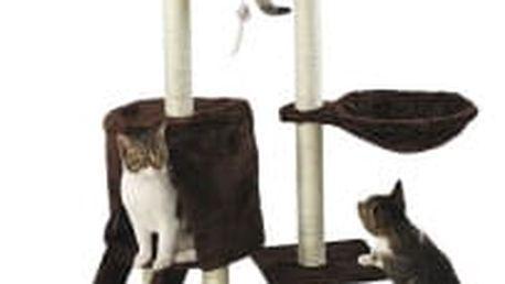 Škrabadlo pro kočky Hawaj 138 cm | tmavě hnědá