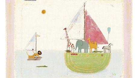 Maileg Plakát Noemova archa, multi barva, papír