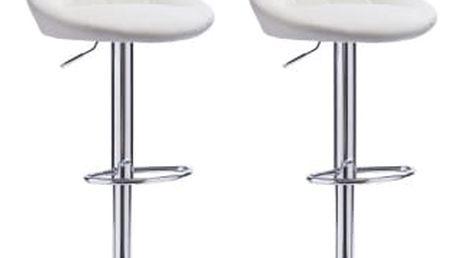 2x Barová židle Hawaj CL-3235 | bílá