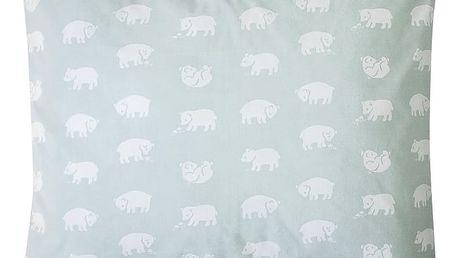 Fine Little Day Povlak na polštář BJÖRN 50x60 cm, zelená barva, textil