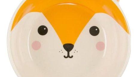 sass & belle Keramická miska Fox Kawaii, oranžová barva, bílá barva, keramika