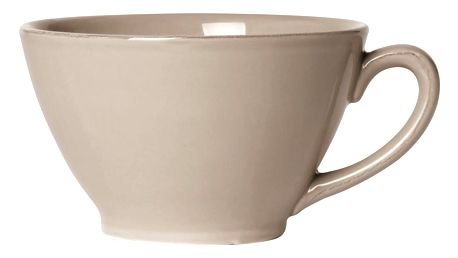 CÔTÉ TABLE Hrnek Jumbocup beige, béžová barva, šedá barva, keramika