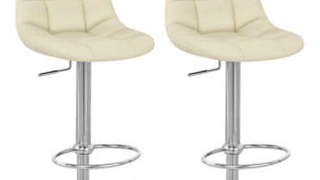 2x Barová židle Hawaj CL-8023 | krémová
