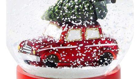 Talking Tables Sněžítko Red Car, červená barva, sklo