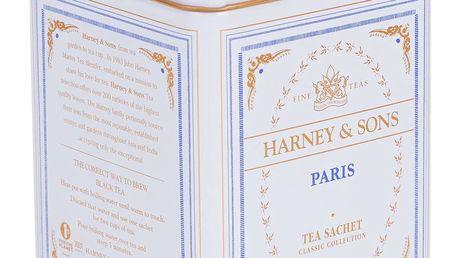 HARNEY & SONS Černý čaj Paris, modrá barva, bílá barva, kov