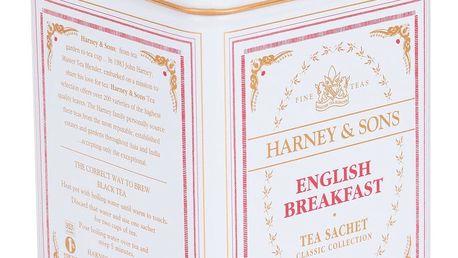HARNEY & SONS Černý čaj English Breakfast, červená barva, bílá barva, kov