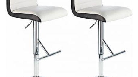 2x Barová židle Hawaj CL-8005 | bílá