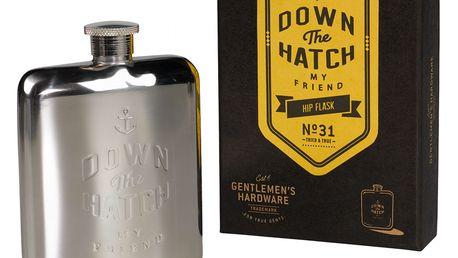 GENTLEMEN'S HARDWARE Nerez placatka Down The Hatch, stříbrná barva, přírodní barva, kov