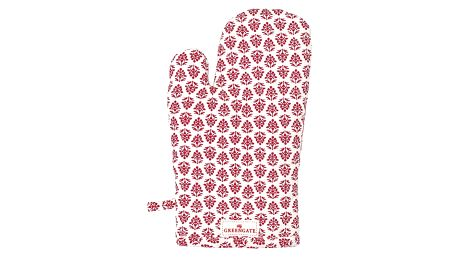 GREEN GATE Kuchyňská chňapka Ashley red, červená barva, bílá barva, textil