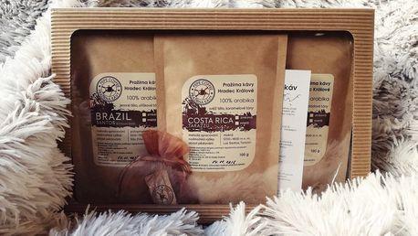 Dárkové balíčky 6 druhů zrnkové nebo mleté kávy