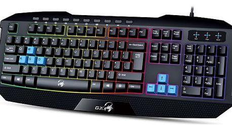 Genius GX Gaming Scorpion K215, CZ/SK černá/modrá (31310474106)