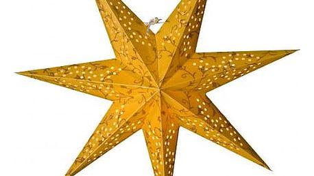 watt & VEKE Závěsná hvězda Beatrix Gold 44 cm, zlatá barva, plast, papír