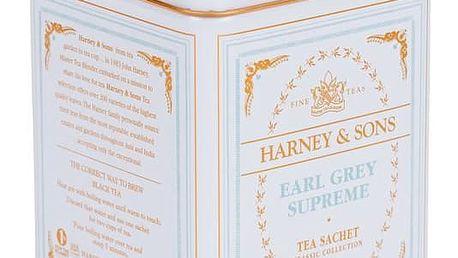 HARNEY & SONS Černý čaj Earl Grey Supreme, modrá barva, bílá barva, kov