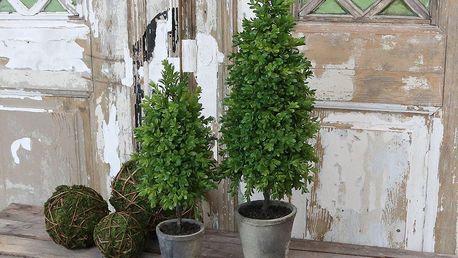 Chic Antique Umělý buxus v květináči 45cm, zelená barva, plast, keramika