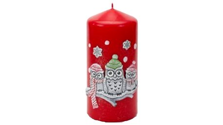 Svíčka s motivem 3 soviček. Vychutnejte si tu pravou vánoční pohodu.