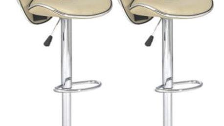 2x Barová židle Hawaj CL-2112 | krémová