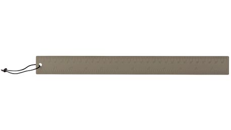 Bloomingville Kovové pravítko Grey, šedá barva, kov