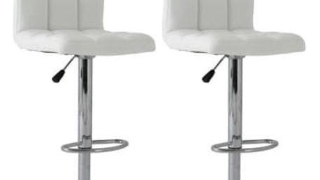 2x Barová židle Hawaj CL-3232-1 | bílá