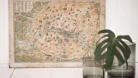 IB LAURSEN Obraz City map of Paris, multi barva, přírodní barva