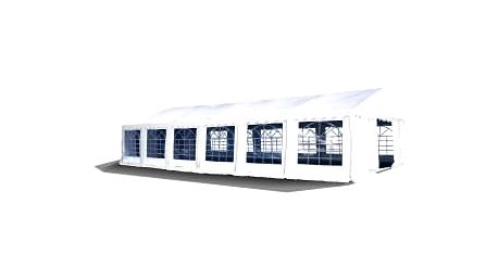 Párty stan - bílý, 6 x 12 m