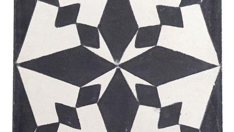 Tine K Home Cementová kachle Black Pole, černá barva, bílá barva
