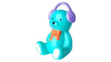Naučte děti spořit s veselou barevnou pokladničkou ve tvaru medvídka.