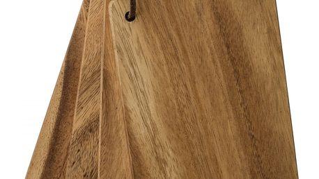 Bloomingville Set čtyř prkének Acacia, hnědá barva, dřevo