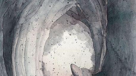 MRS. MIGHETTO Plakát SECRET TUNNEL 30x40 cm - Limited Edition, šedá barva, papír