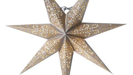 watt & VEKE Závěsná hvězda Ludwig Silver/Gold 44 cm, šedá barva, zlatá barva, stříbrná barva, plast, papír
