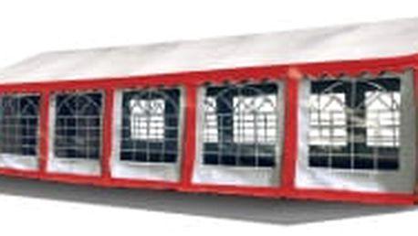 Párty stan Hawaj Premium 6x12m (červeno-bílý)