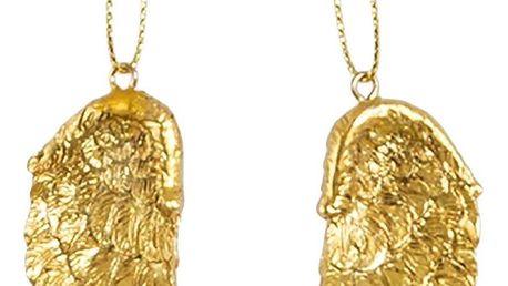sass & belle Závěsná dekorace Gold Wings set, zlatá barva, kov