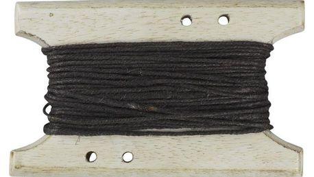 Chic Antique Jutový provázek se špulkou Mocca - 10m, hnědá barva, dřevo