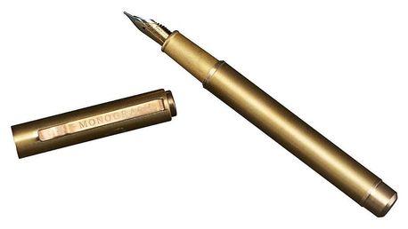 MONOGRAPH Mosazné plnící pero - Love Letter, zlatá barva, kov